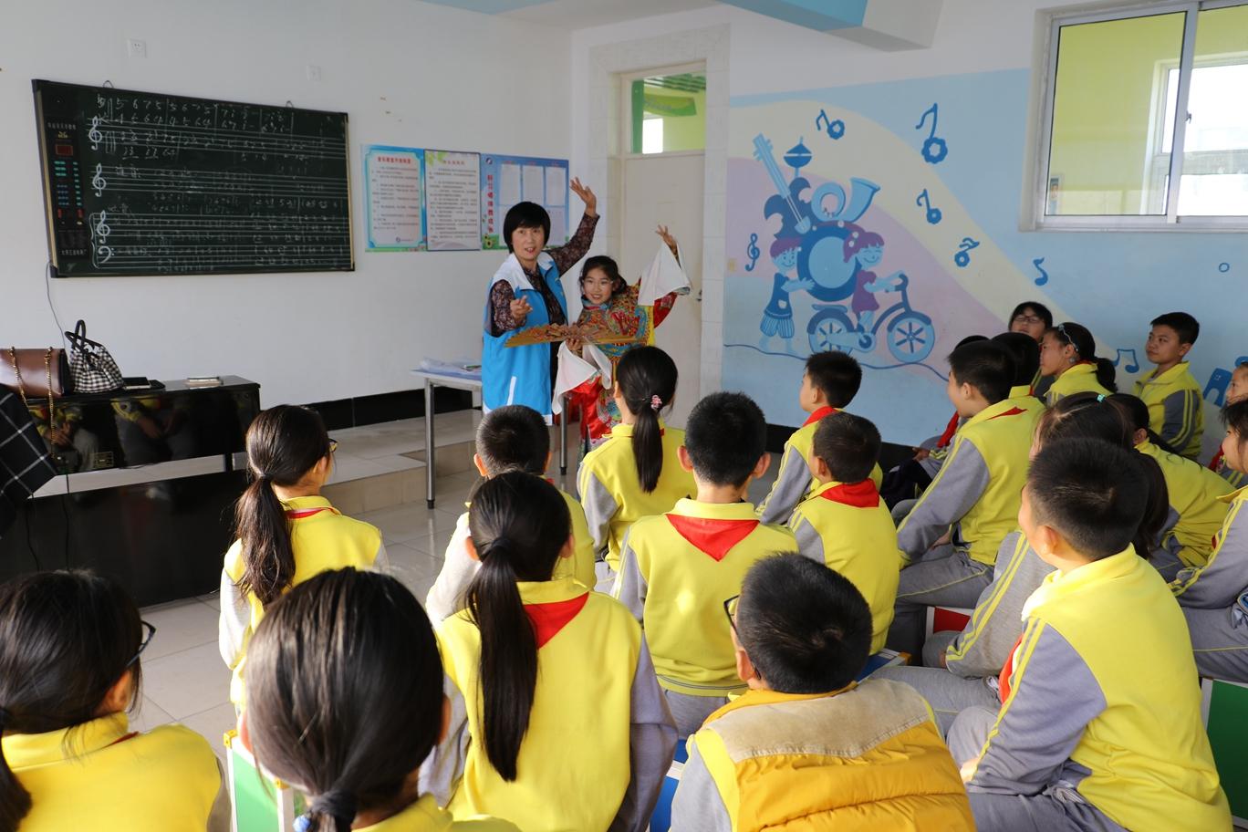 荣成市群众文化活动中心 非遗走进府新小学志愿活动