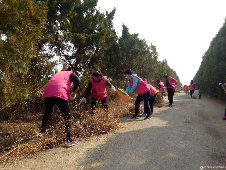 人和魅力涨濛阳光志愿队开展清洁家园美丽乡村志愿活动